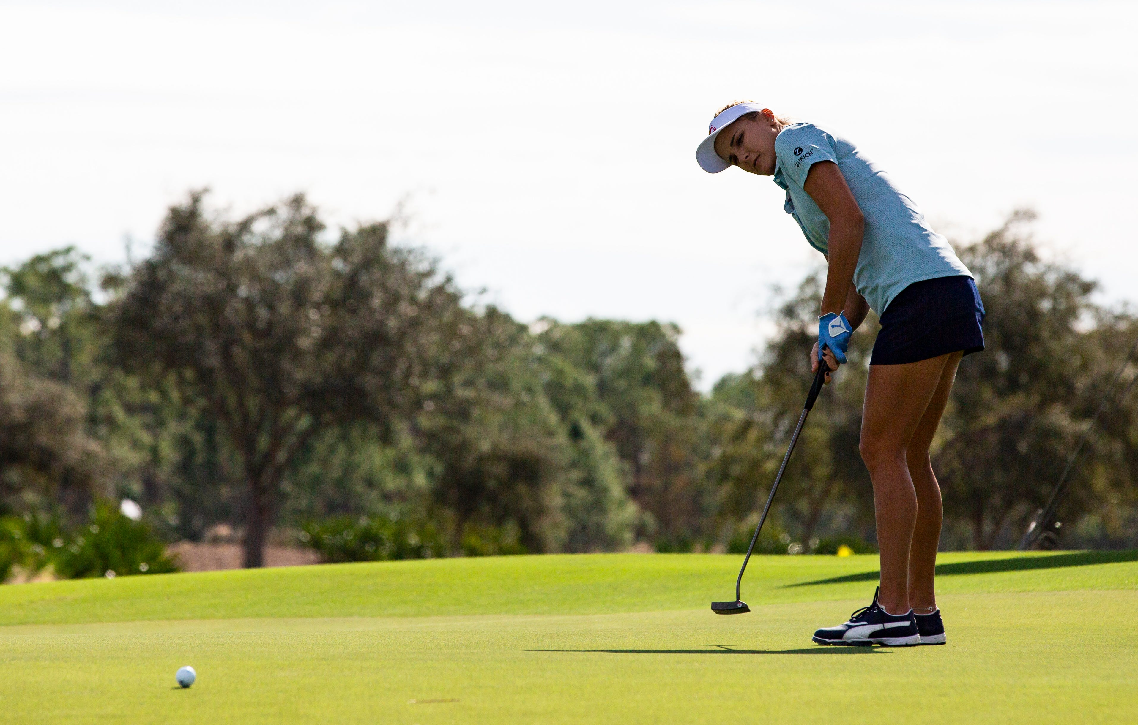 Lexi Thompson putts the ball during the first pro-am round of the 30th annual QBE Shootout at Tiburón Golf Club on Wednesday.