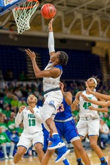 Junior point guard Keri Jewett-Giles easily leads FGCU in scoring.