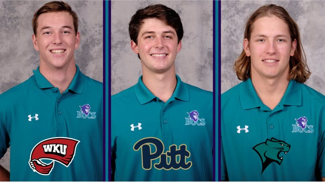 FSW baseball players Ryan Gusto (Western Kentucky), Mitch Myers (Pittsburgh) and Connor Bagnieski (Chicago State) have all signed to play at Division I schools.