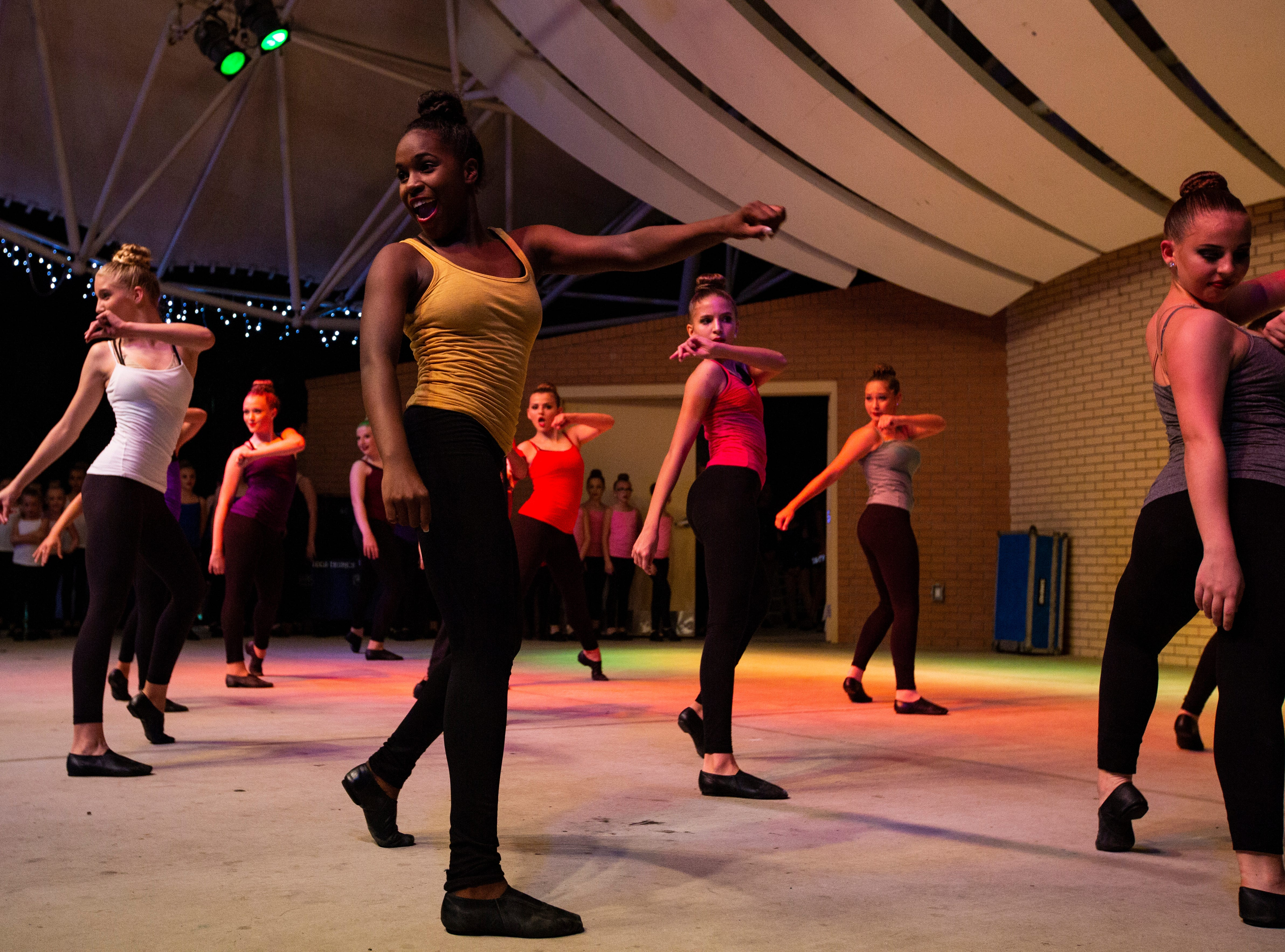 Dancers from Dance City Productions in Naples put on a show with holiday music at the 19th annual Holiday in the Park on Dec. 4, 2018 at the Riverside Park in Bonita Springs.