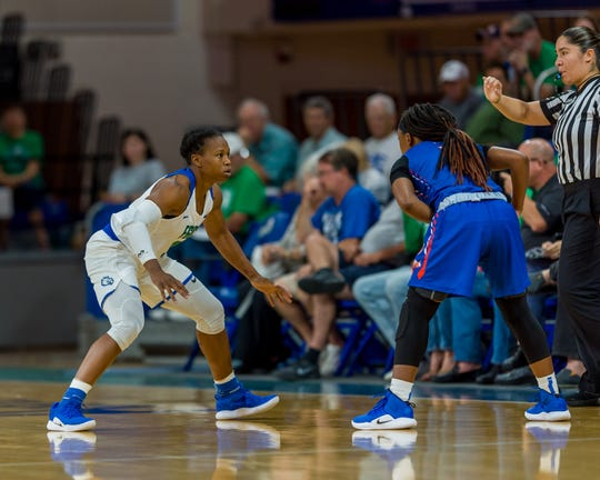 FGCU coach Karl Smesko said Keri Jewett-Giles can be a huge disruption  for other teams' offenses when she's locked in.