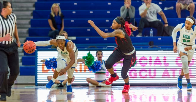 Dunbar grad Keri-Jewett-Giles, a junior transfer from Southern Miss, may be the fastest point guard FGCU has ever had.