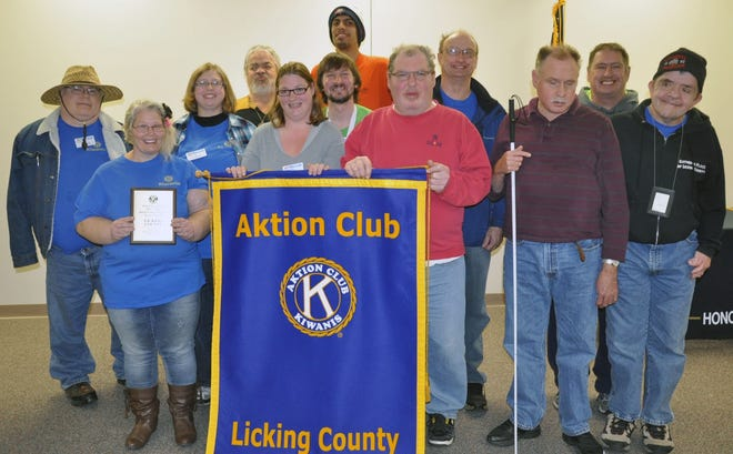 The Licking County Aktion Club recently was recognized for a video its members created.