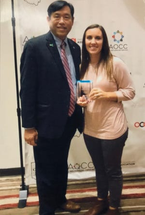 """Courtney Lichtenaur wins """"Ohio High School Counselor of the Year"""" due to her dedication, attitude, and skills."""