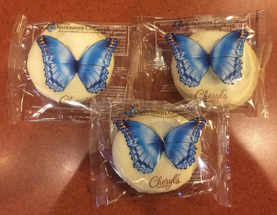 These special iced sugar cookies sell for a dollar at area Donatos through the holidays or while supplies last, and all proceeds benefit Nationwide Children's Hospital.
