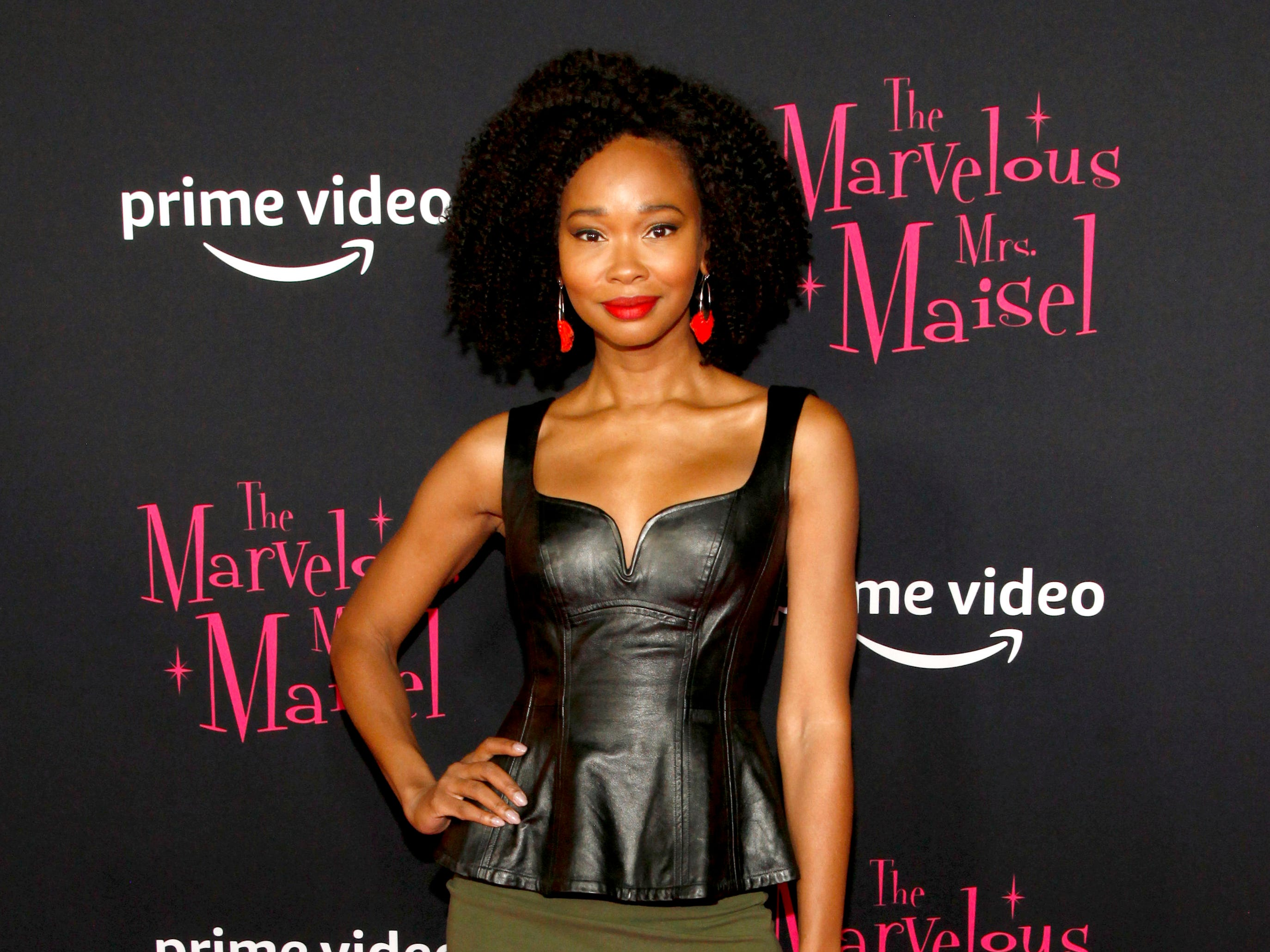 "Wakeema Hollis at the premiere of season two of ""The Marvelous Mrs. Maisel"" Nov. 29, 2018 at The Paris Theatre in New York City."
