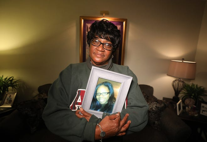 Rachel Martin, mother of Shanaya Coley, the young mother whose body was found five months later inside her car in an apartment complex a mile from the abduction scene, talks in her Paterson home on December 5, 2018 the one year anniversary of her abduction.