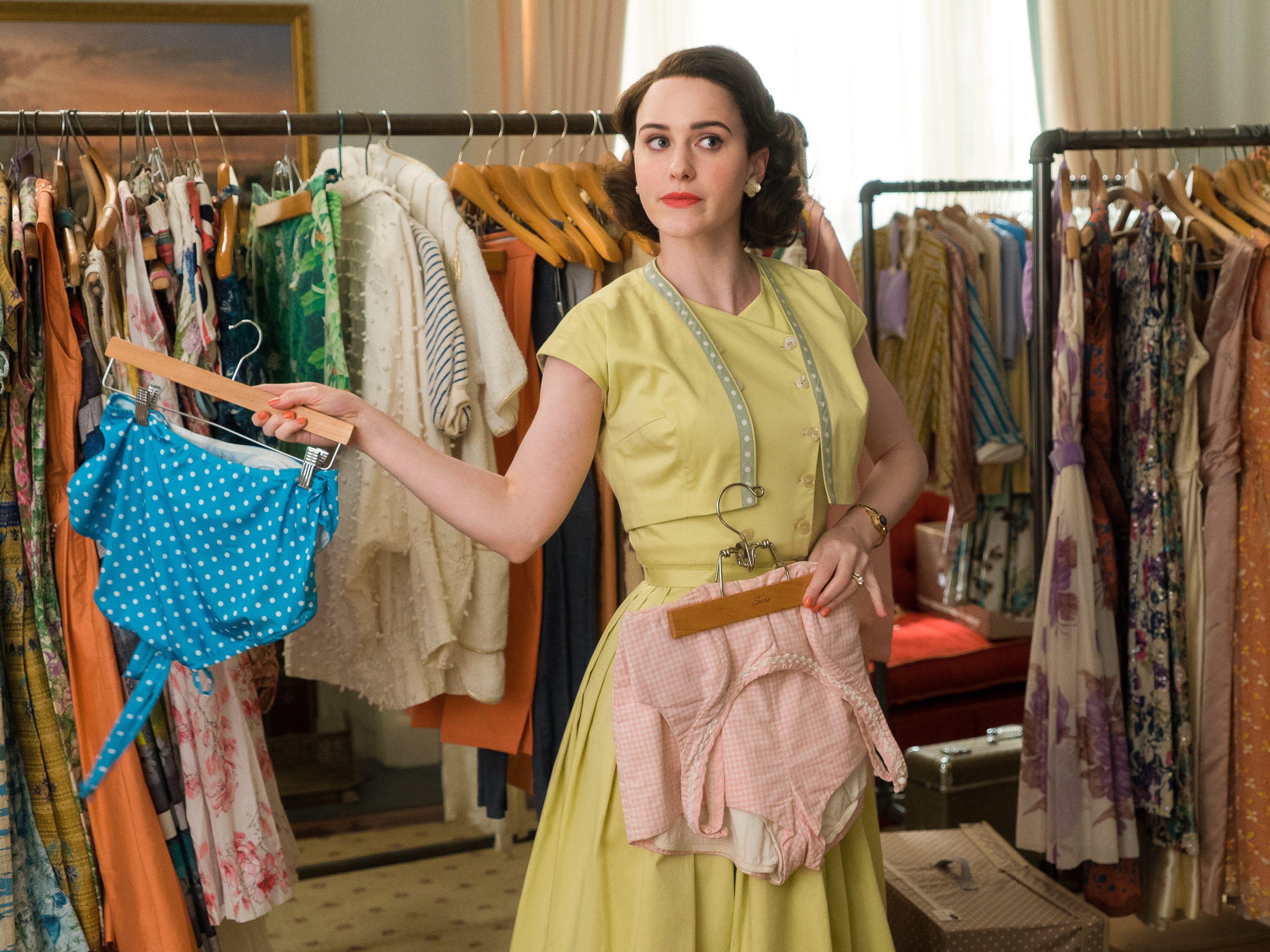 "Rachel Brosnahan stars as Miriam ""Midge"" Maisel in season two of the Amazon Prime Video series ""The Marvelous Mrs. Maisel."""