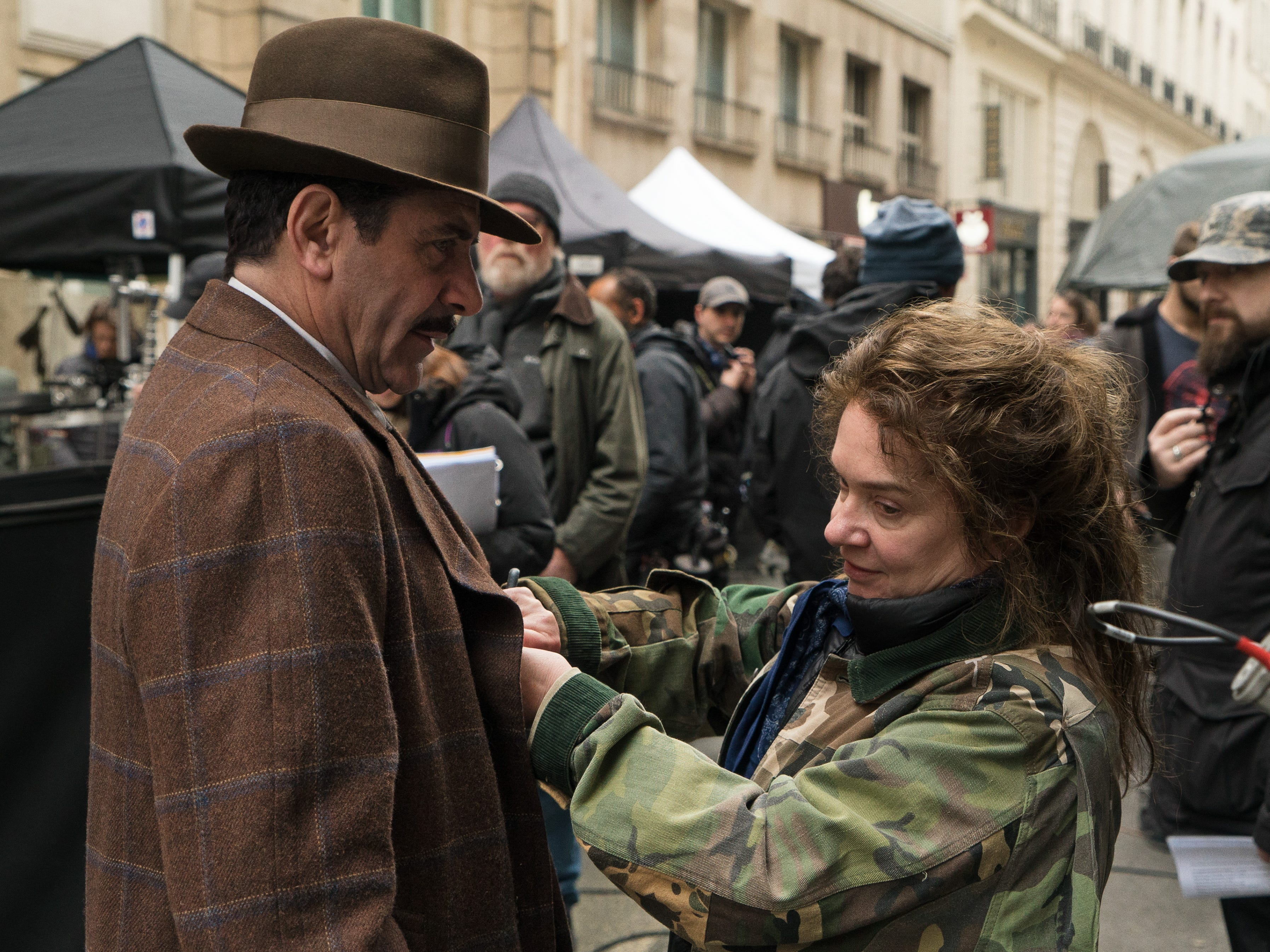 """Behind-the-scenes of the filming season two of the Amazon Prime Video series """"The Marvelous Mrs. Maisel,"""" starring Tony Shalhoub as Abraham """"Abe"""" Weissman, the title character's father."""