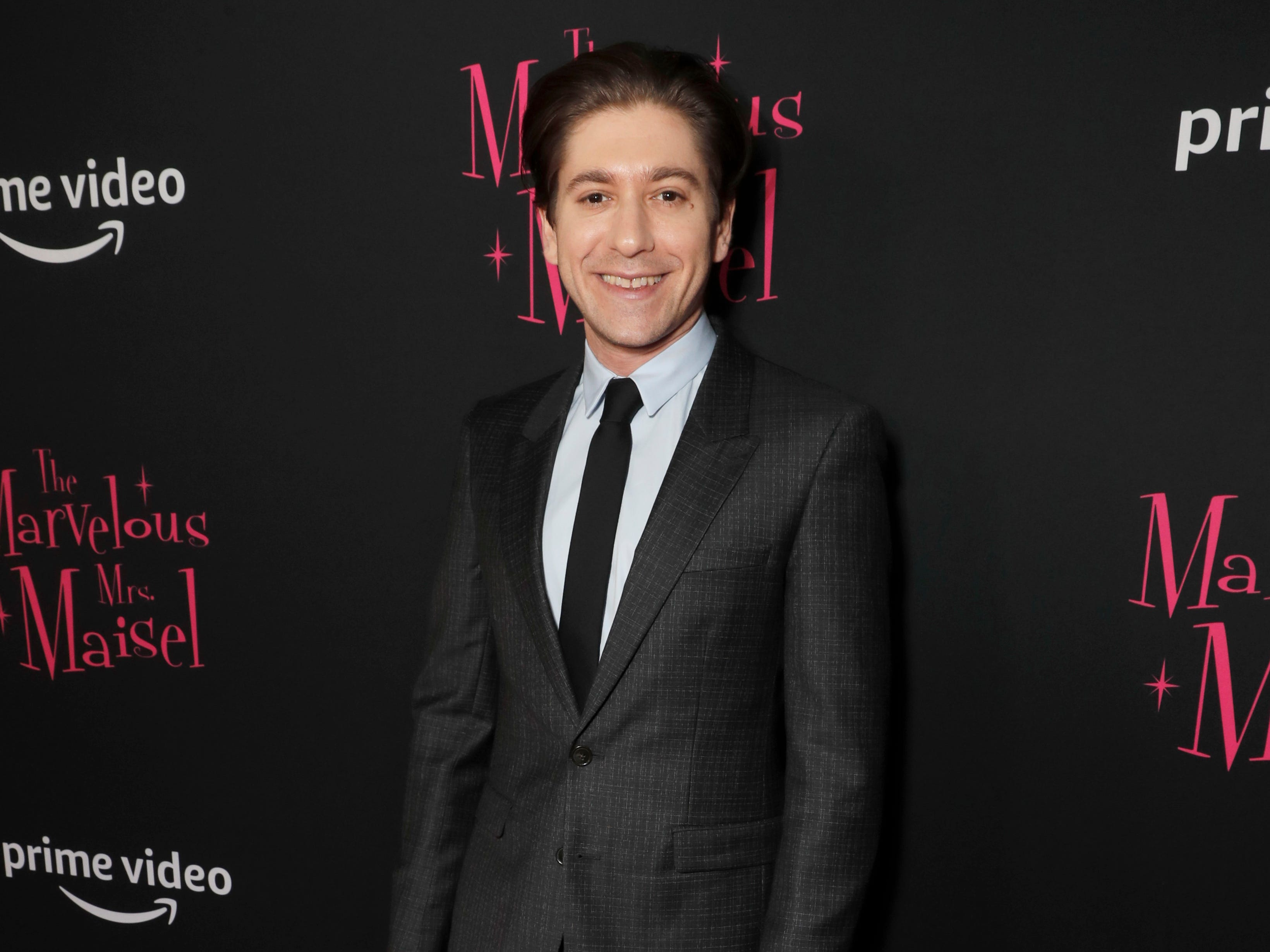 "Michael Zegen at the premiere of season two of ""The Marvelous Mrs. Maisel"" Nov. 29, 2018 at The Paris Theatre in New York City."