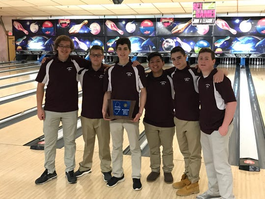The Ridgewood boys bowling team captured the Group 4 championship at the North 1A sectional tournament on Saturday, Feb. 3, 2018 at Bowler City.