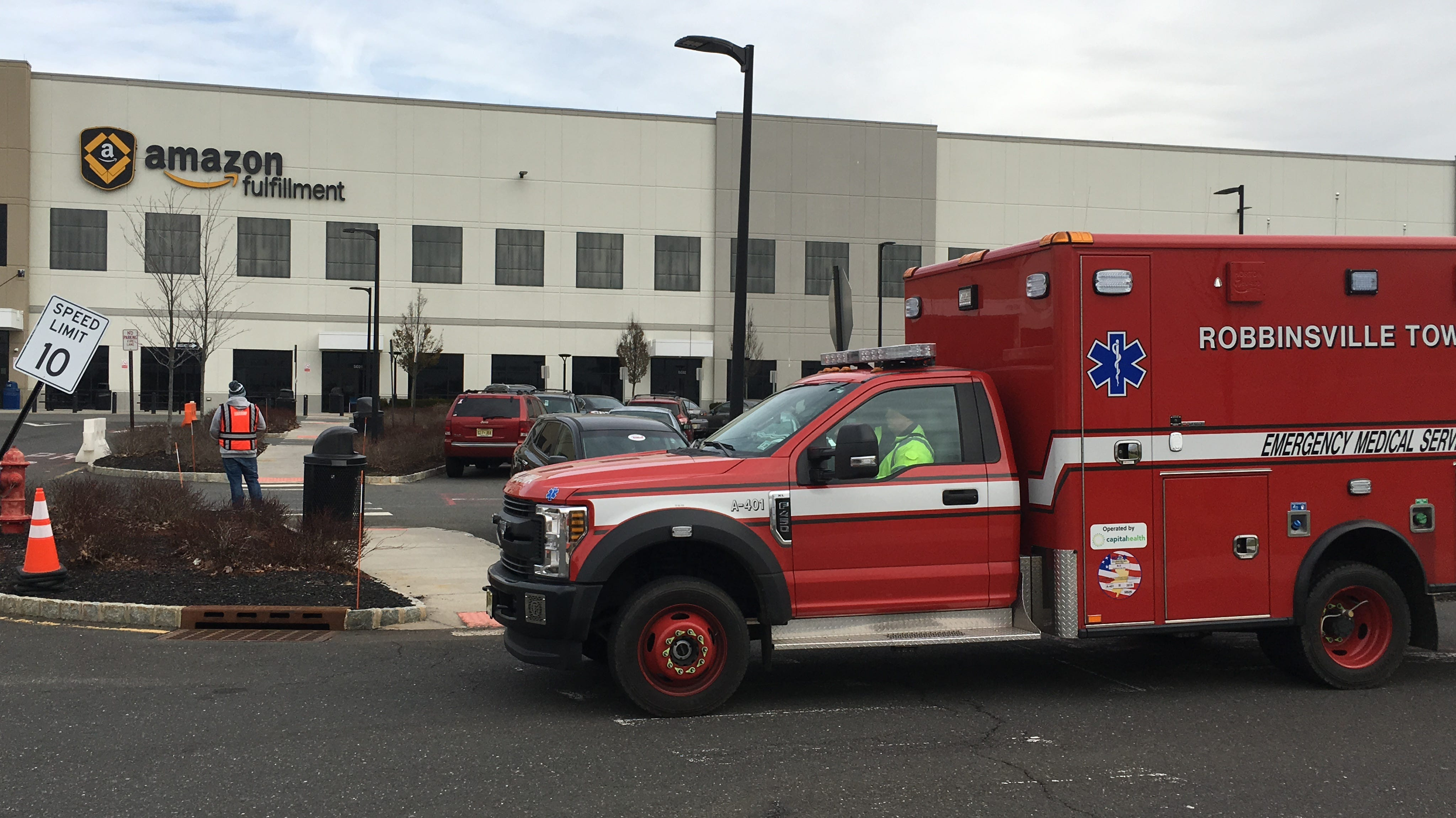 One person critically injured after bear repellent falls off shelf at NJ Amazon warehouse