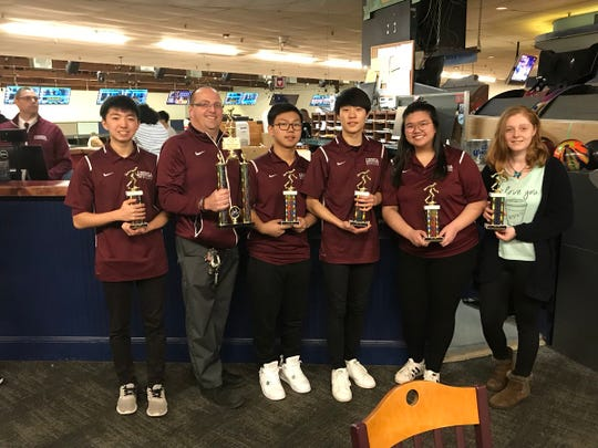 The Leonia bowling team won the 2017-18 NJIC Patriot championship by a single point, posting a divisional record of 87-25.