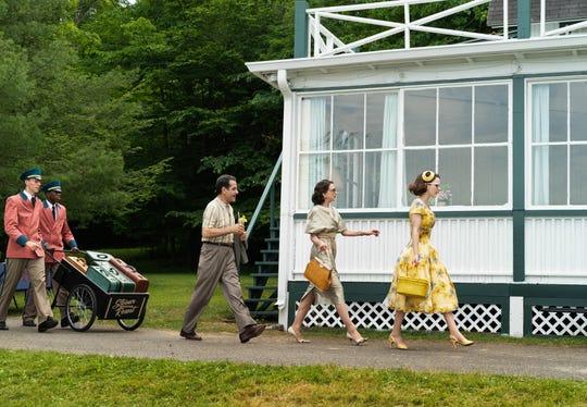 "A scene from season two of ""The Marvelous Mrs. Maisel,"" filmed in Deposit."