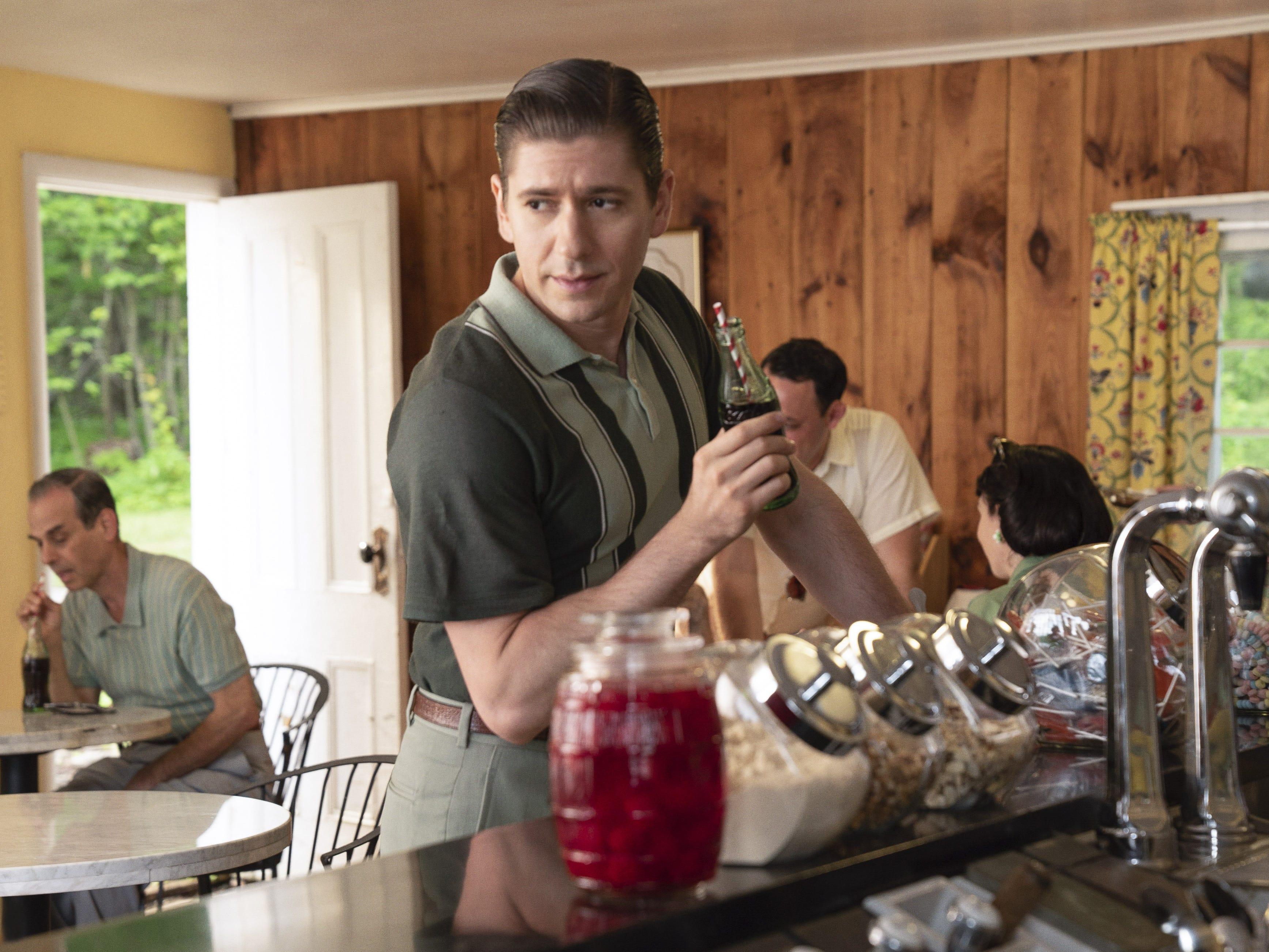 """Michael Zegen star as Joel Maisel, Midge's husband, in season two of """"The Marvelous Mrs. Maisel."""""""