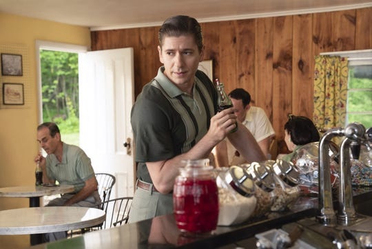 "Michael Zegen star as Joel Maisel, Midge's husband, in season two of ""The Marvelous Mrs. Maisel,"" filmed in Deposit."