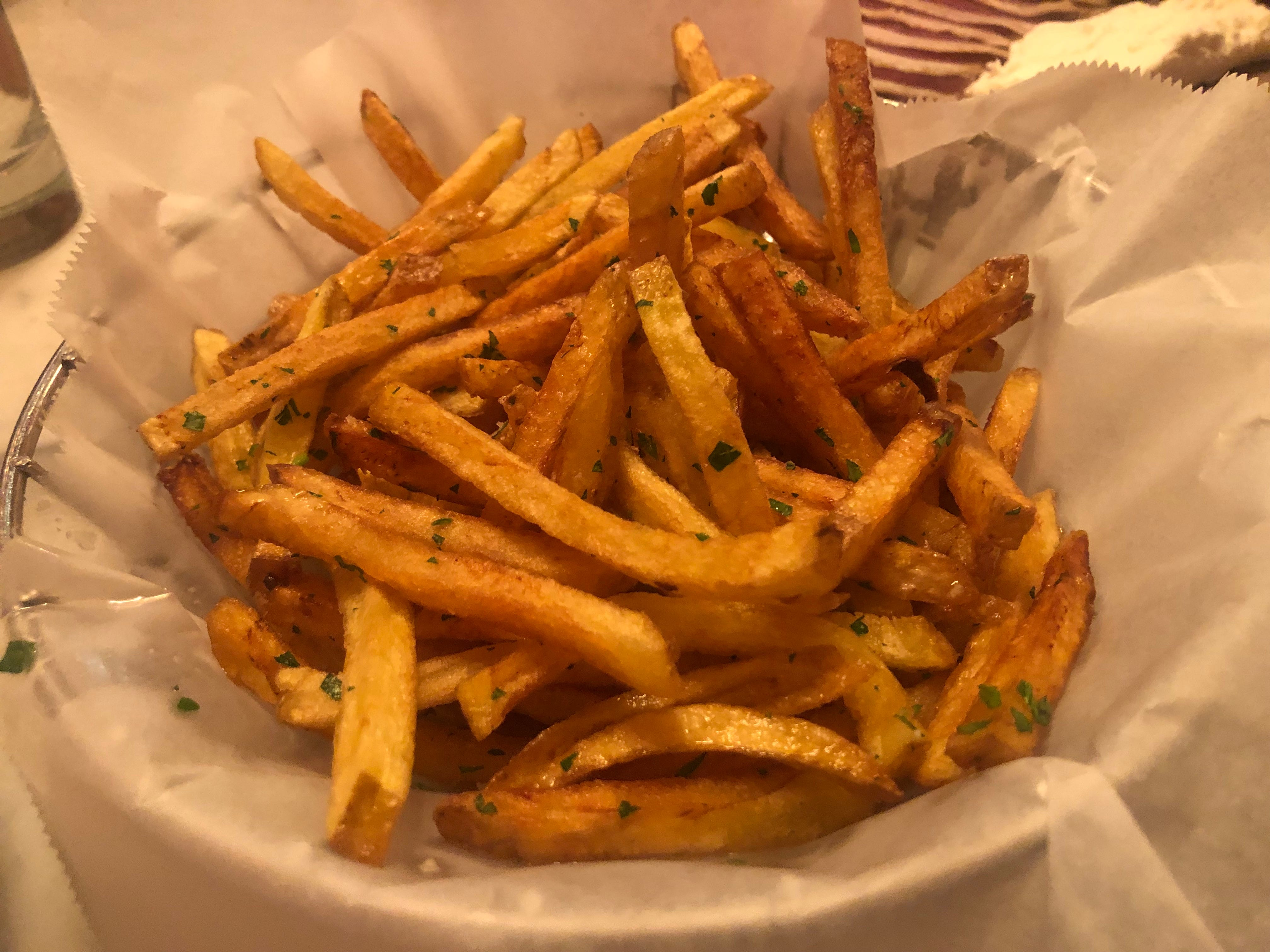 Fries with garlic butter and parsley from Cowan's Public.