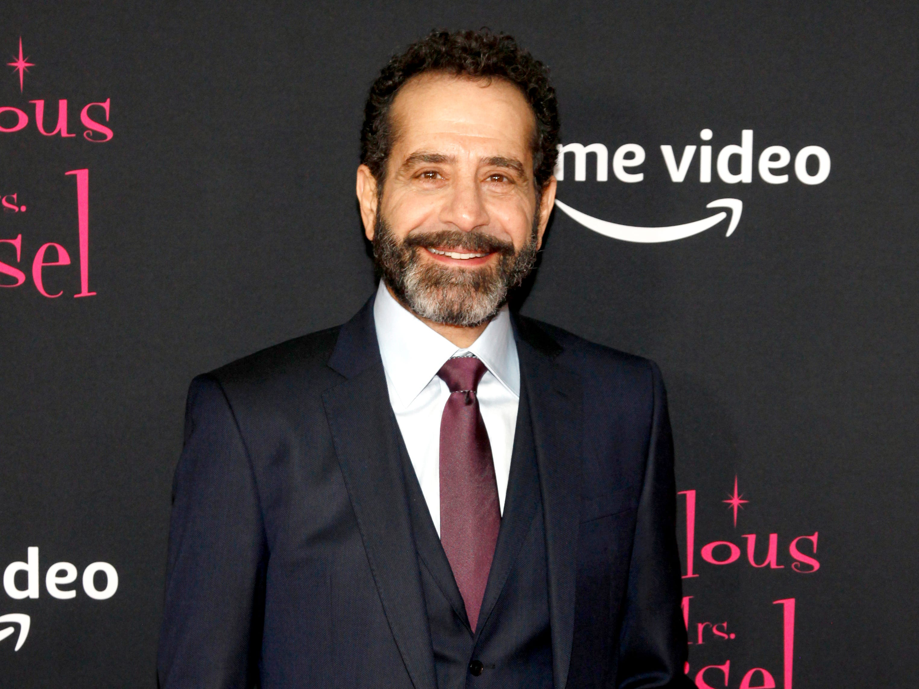 "Tony Shalhoub at the premiere of season two of ""The Marvelous Mrs. Maisel"" Nov. 29, 2018 at The Paris Theatre in New York City."
