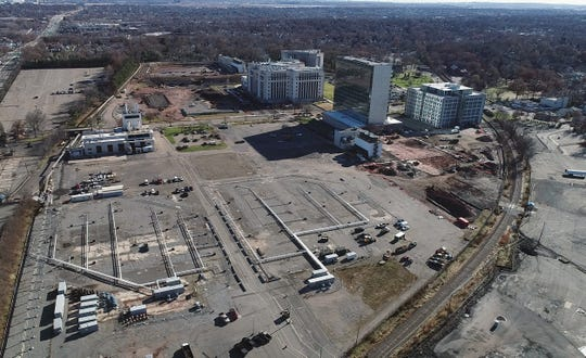 Looking east over the ON3 site, formerly the Hoffman-LaRoche site, on the border of Clifton and Nutley on Tuesday, Dec. 4, 2018.