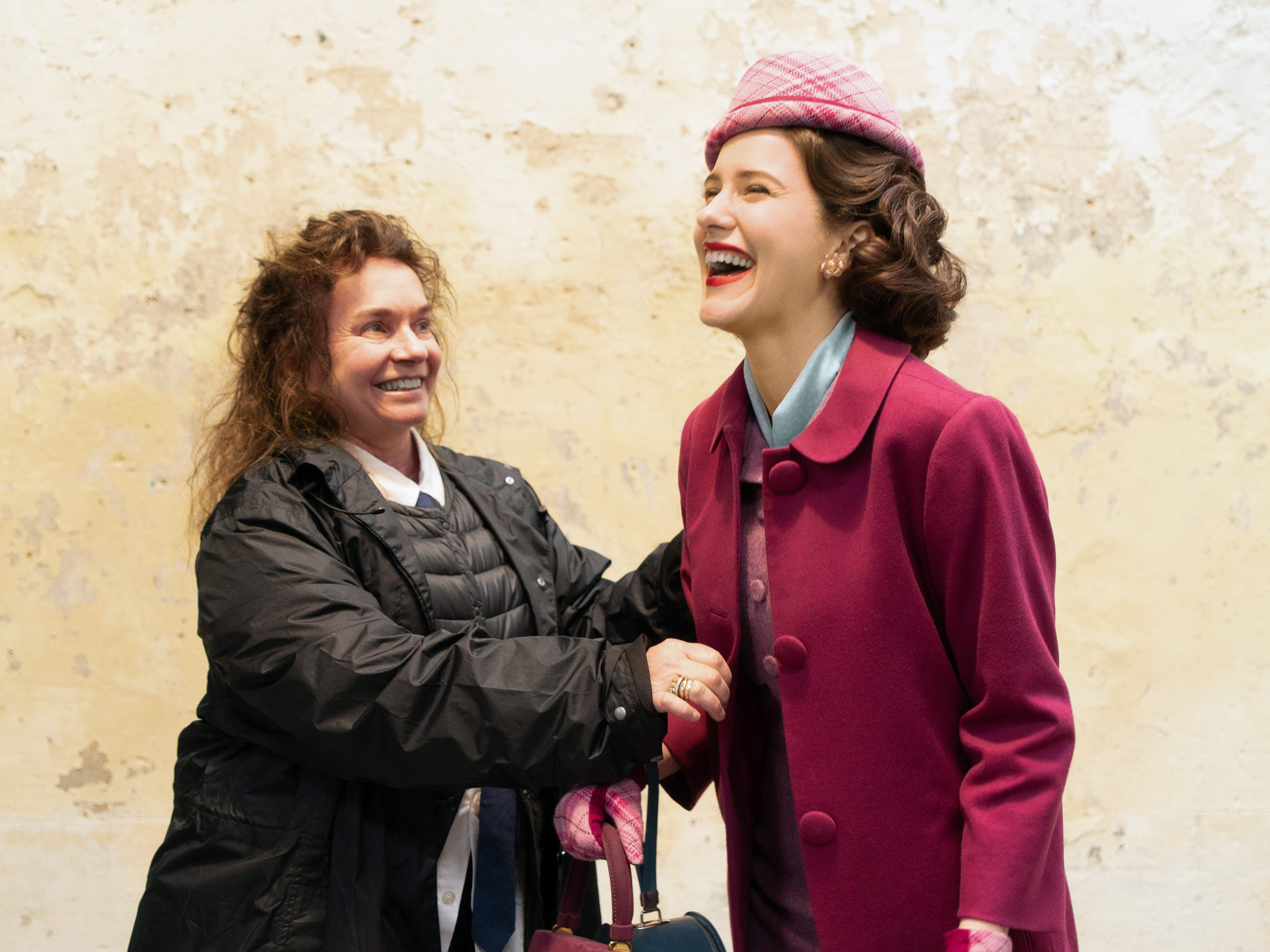 """Behind-the-scenes of the filming season two of the Amazon Prime Video series """"The Marvelous Mrs. Maisel,"""" starring Rachel Brosnahan stars as Miriam """"Midge"""" Maisel."""