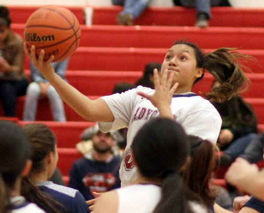 Freshman Lady 'Cat guard played above the defense and dropped 12 points in Deming High's 64-51 win over the visiting Silver High Fighting Colts on Tuesday.