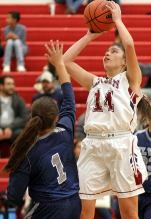 Senior Adriana Giron (14) led the Lady 'Cats in victory Tuesday night with 17 points. The 5-foot-9 forward was also a dominant rebounder for Deming High.