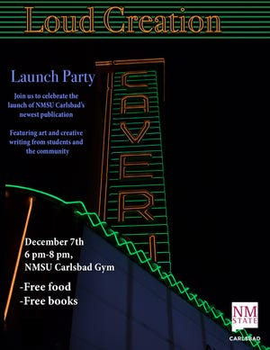 """A flyer for the launch party of """"Loud Creation,"""" a creative publication from"""
