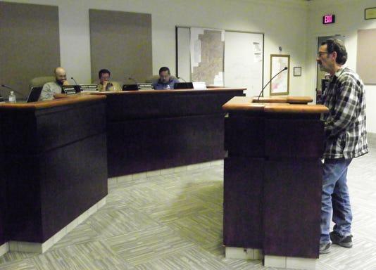 Bob Johnson at Commission Meeting
