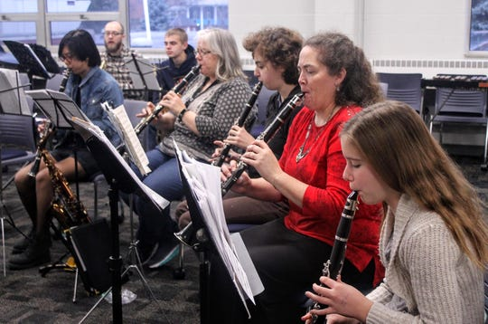 Woodwind performers rehearse Dec. 1 for the LYSO concert, set for Dec. 15.