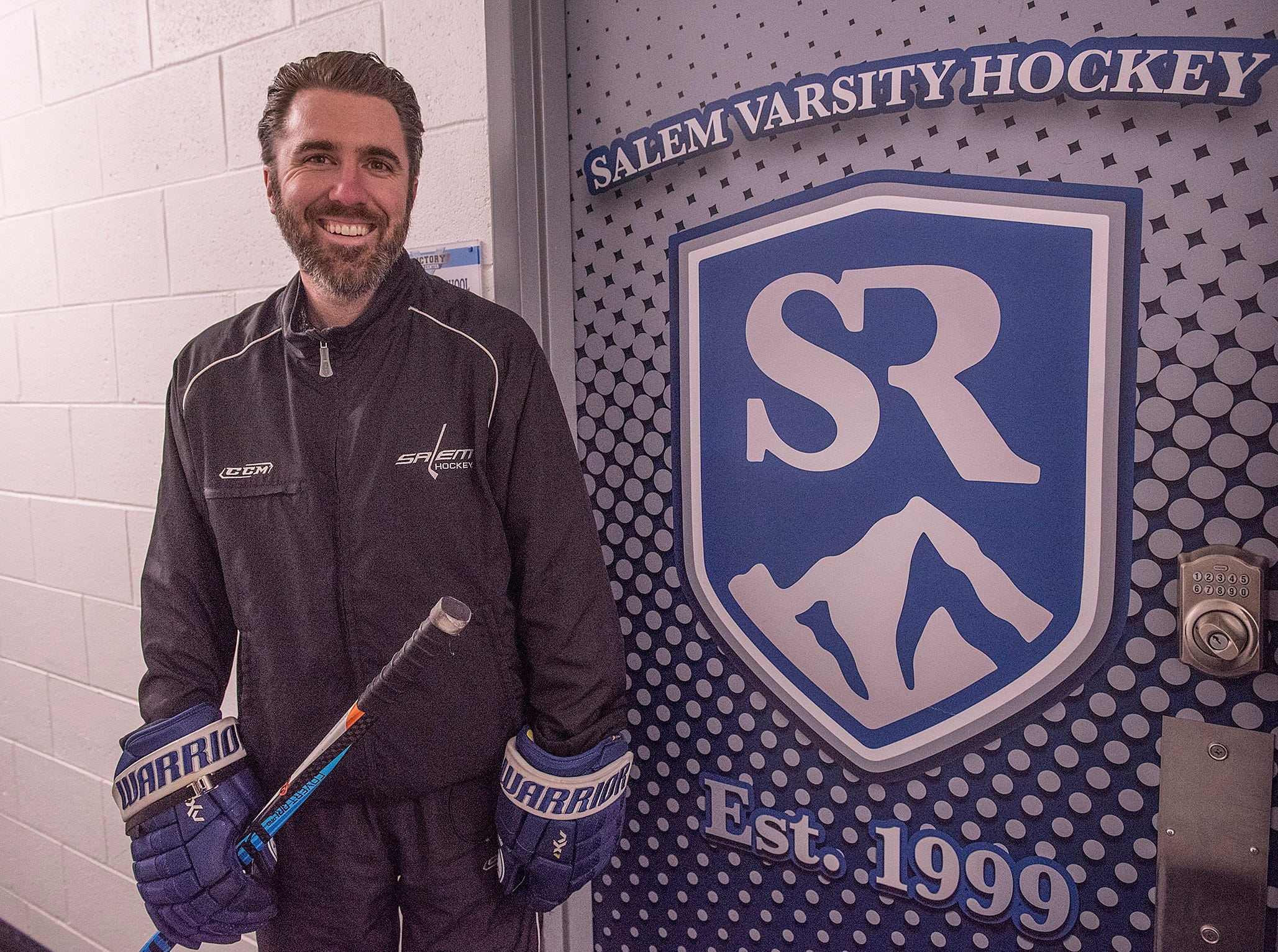 Coach Ryan Ossenmacher is happy to have a permanent home for Salem Hockey.