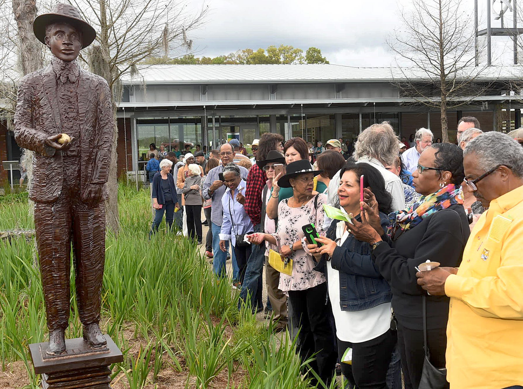 A life size statue of famed Creole musician Amede Ardoin was unveiled at the St. Landry Parish Tourist and Information Center in 2018