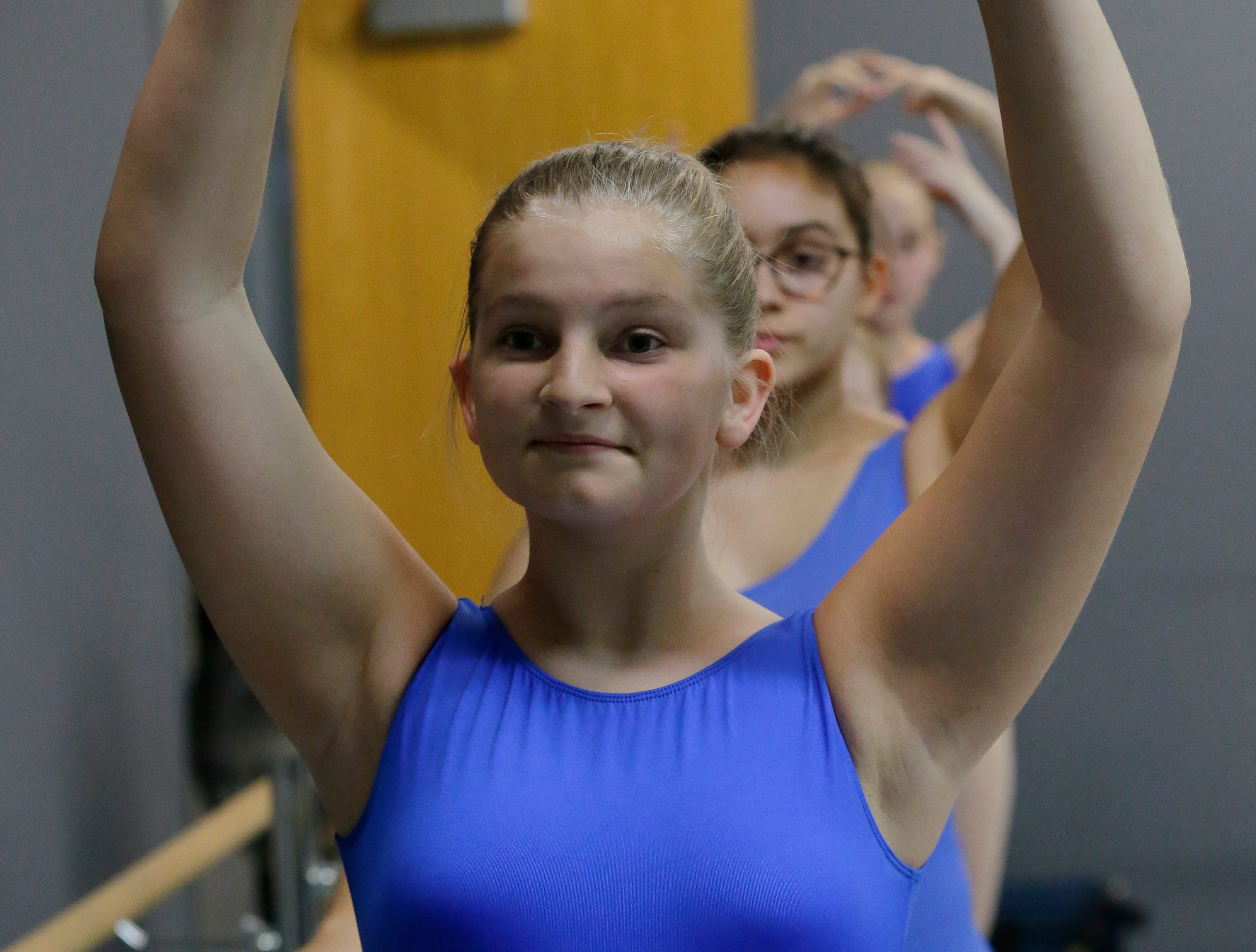 Anabelle Busch practices during her session.  Dancers practice ballet at Valley Academy of the Arts located at 139 N. Lake Street in Neenah, Wis., Tuesday, December 4, 2018.