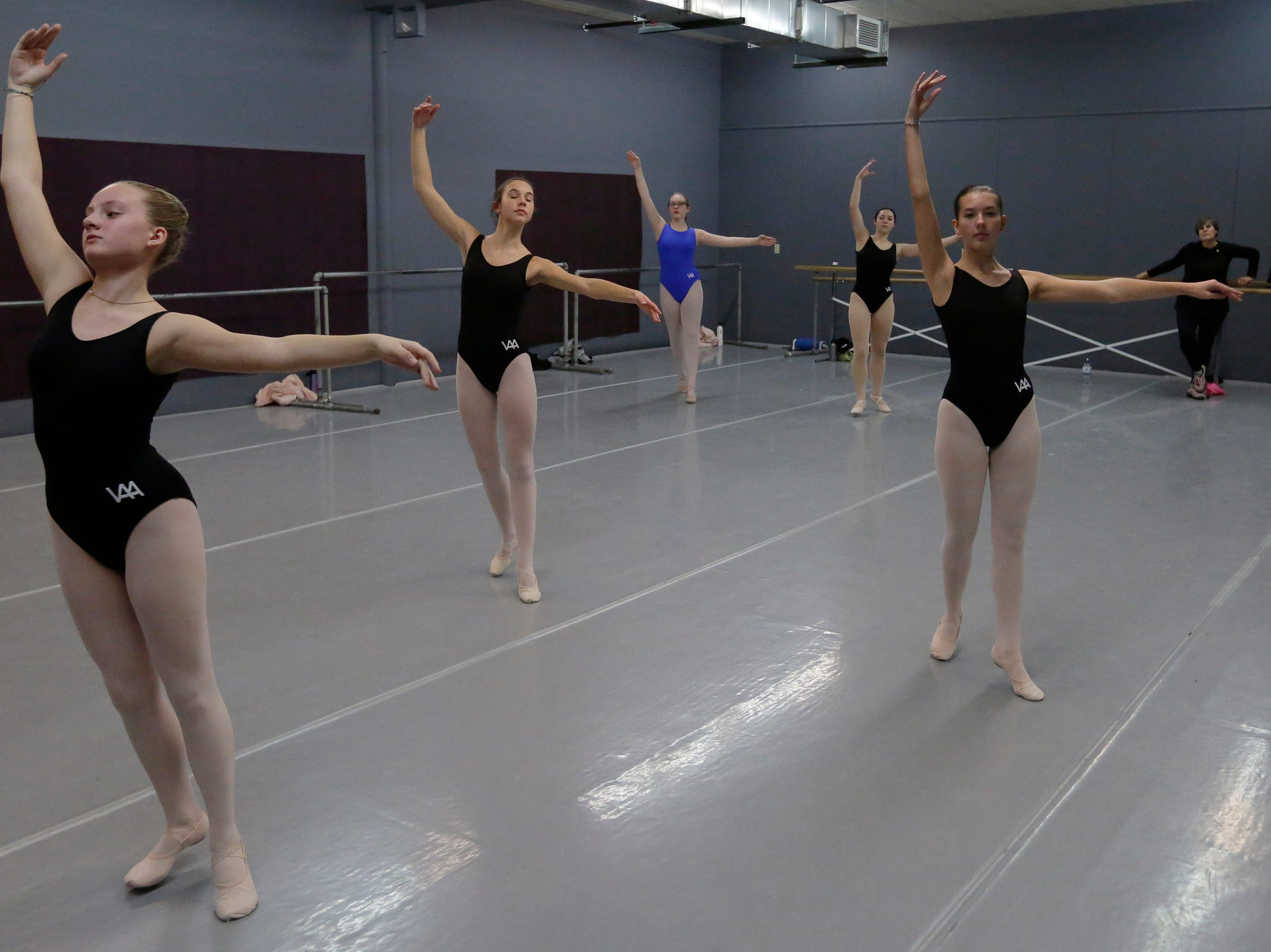 Dancers practice ballet at Valley Academy of the Arts located at 139 N. Lake Street in Neenah, Wis., Tuesday, December 4, 2018.
