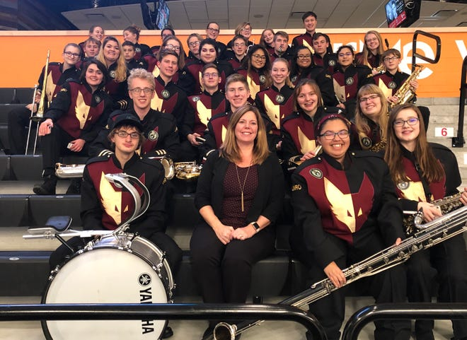 The Omro High School band poses for a photo ahead of its trip to Hawaii, where it will perform in the 2018 Pearl Harbor Memorial Parade.