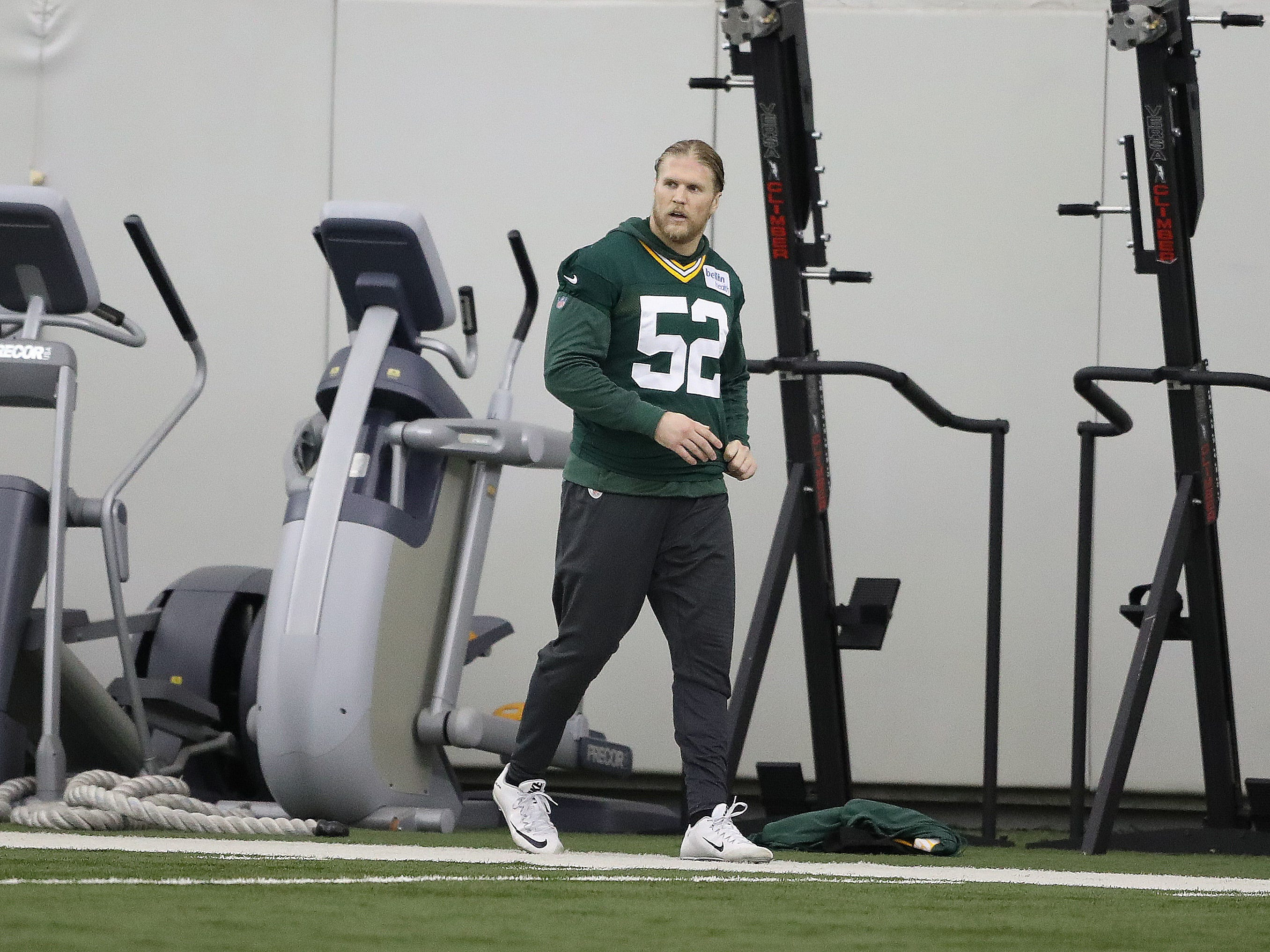 Green Bay Packers outside linebacker Clay Matthews (52) during practice Wednesday, December 5, 2018 inside the Don Hutson Center in Ashwaubenon, WIs.