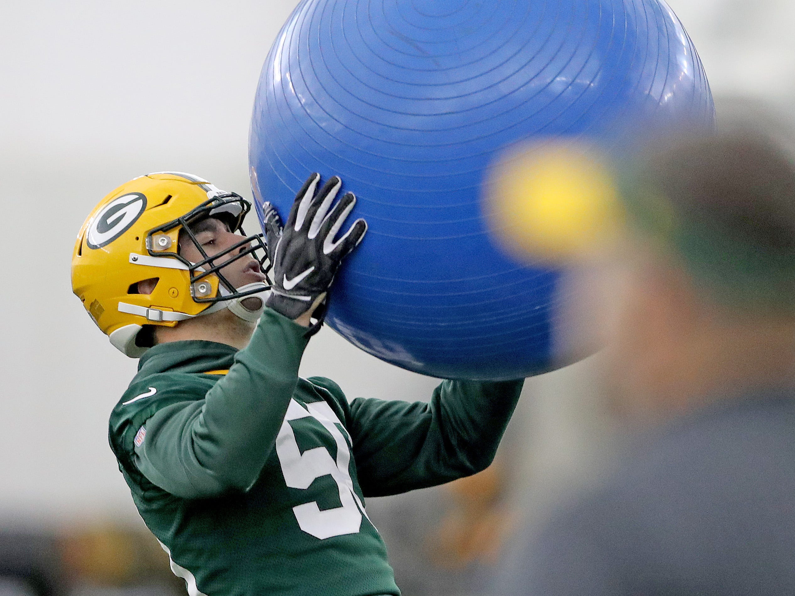 Green Bay Packers inside linebacker Blake Martinez (50) during practice Wednesday, December 5, 2018 inside the Don Hutson Center in Ashwaubenon, WIs.