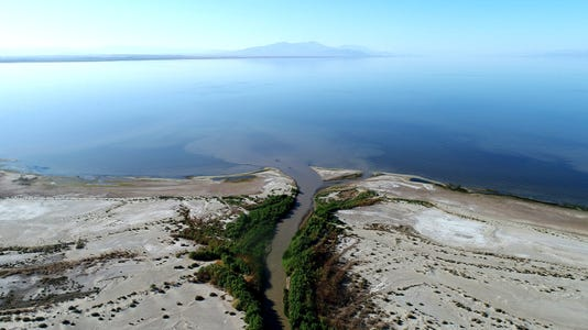 The New River flows into the Salton Sea