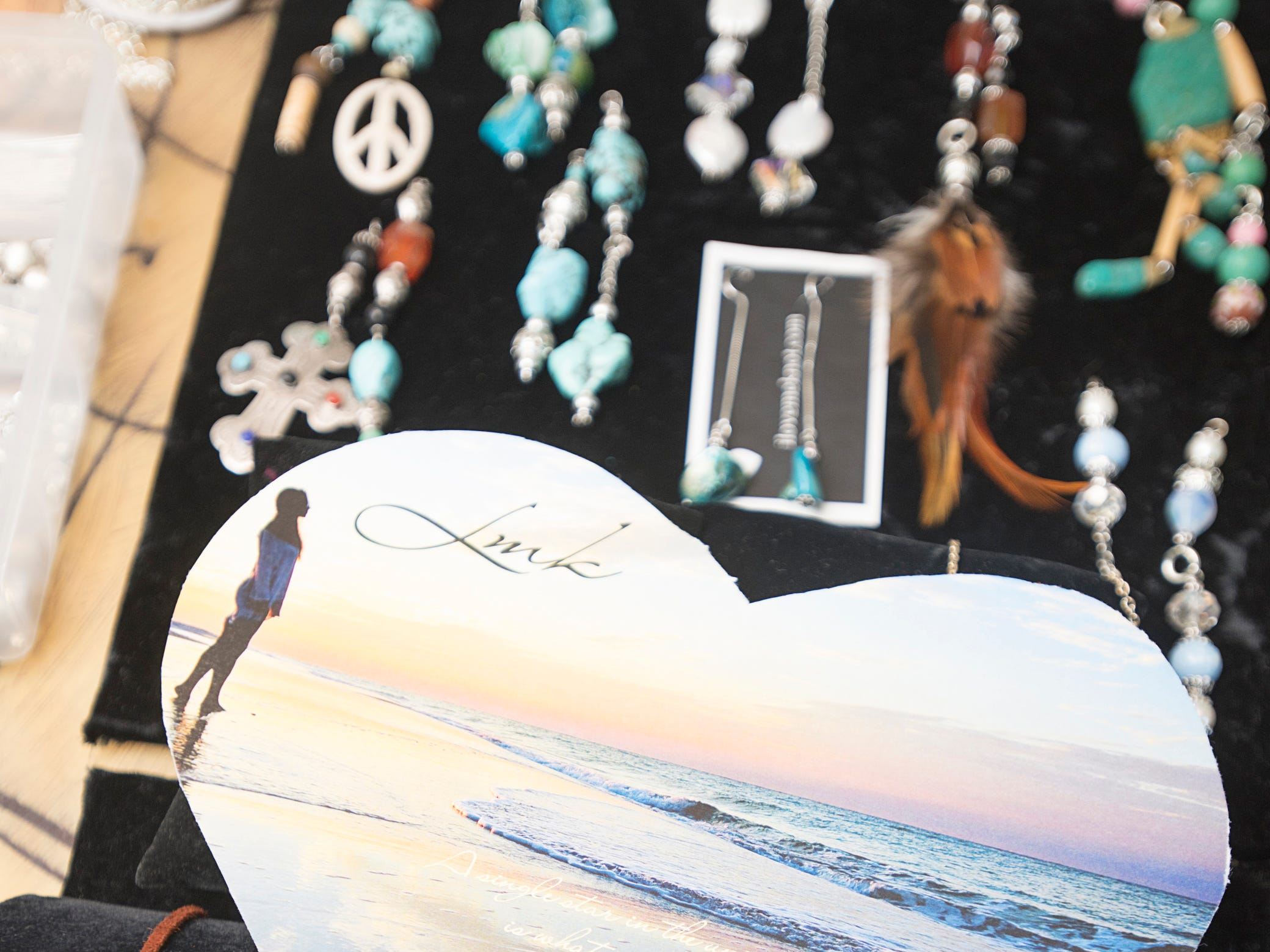 A sample of I Love Me Knot jewelry in Gulf Breeze on Wednesday, December 5, 2018.  A portion of their proceeds aids those who have been impacted by suicide while reducing the stigma around mental illness.