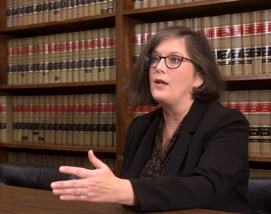 Milton Mayor-elect Heather Lindsay talks Wednesday about her vision for the city during an interview at her law office.