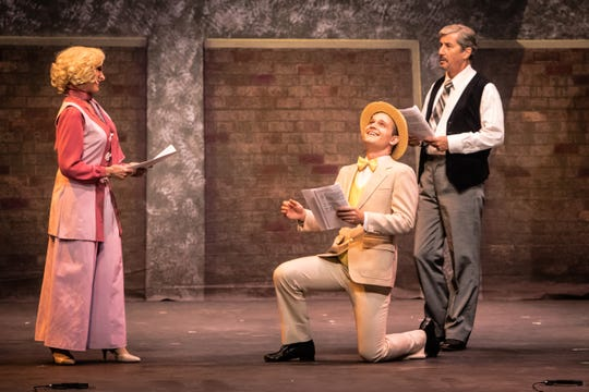 "Charles Shaughnessy (right), Michael Schauble and Debby Boone in Scottsdale Musical Theater Company's production of ""42nd Street."""