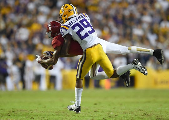 LSU cornerback Greedy Williams.
