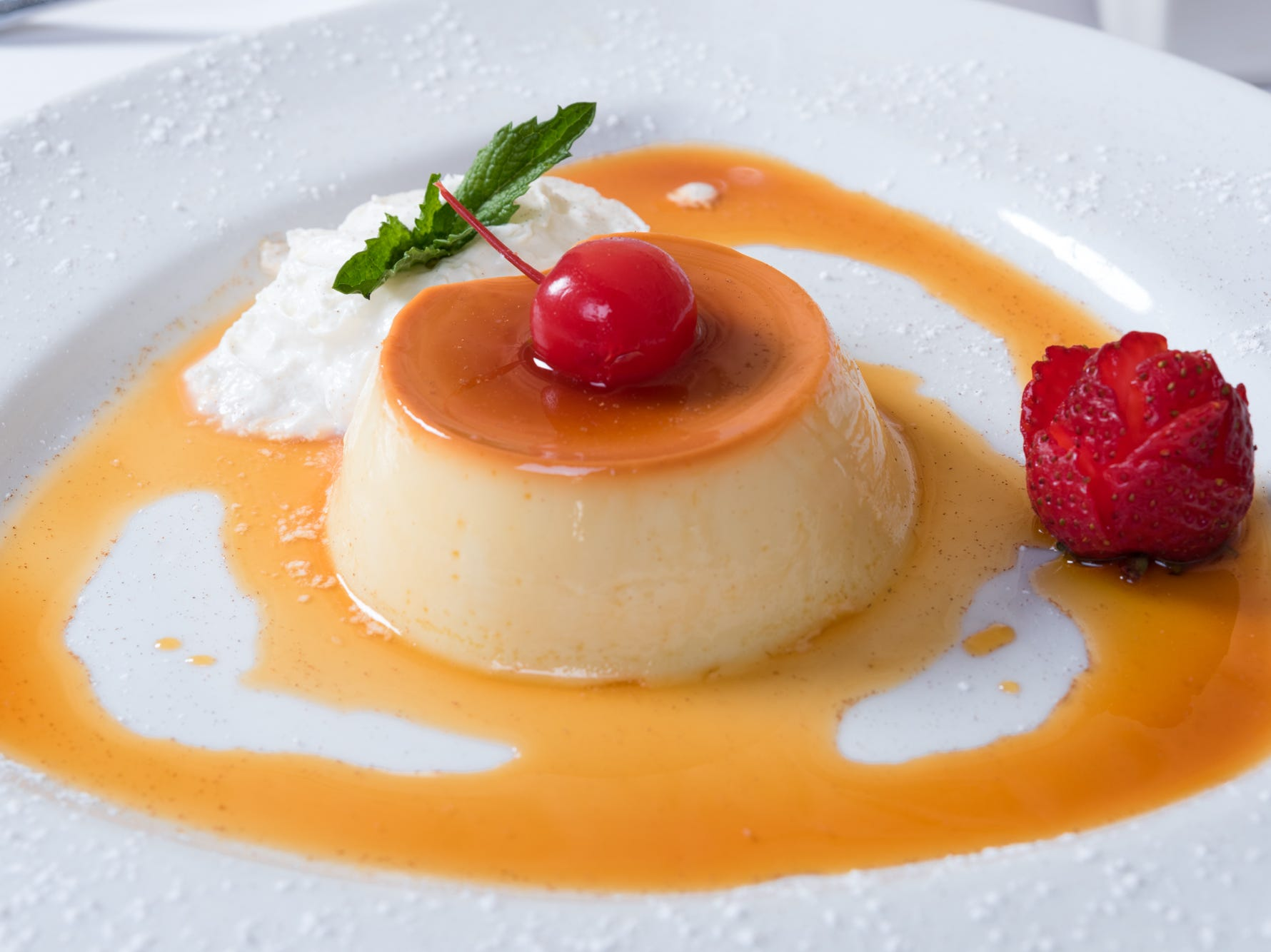 Galeto Brazilian Steakhouse's Brazilian Pudim is a specialty flan topped with caramel.