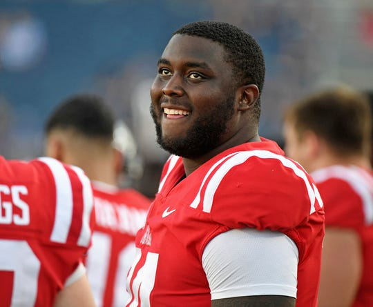 Mississippi offensive lineman Greg Little.