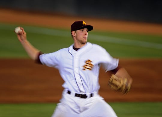 Merrill Kelly, seen in 2010, pitched his junior season at Arizona State.