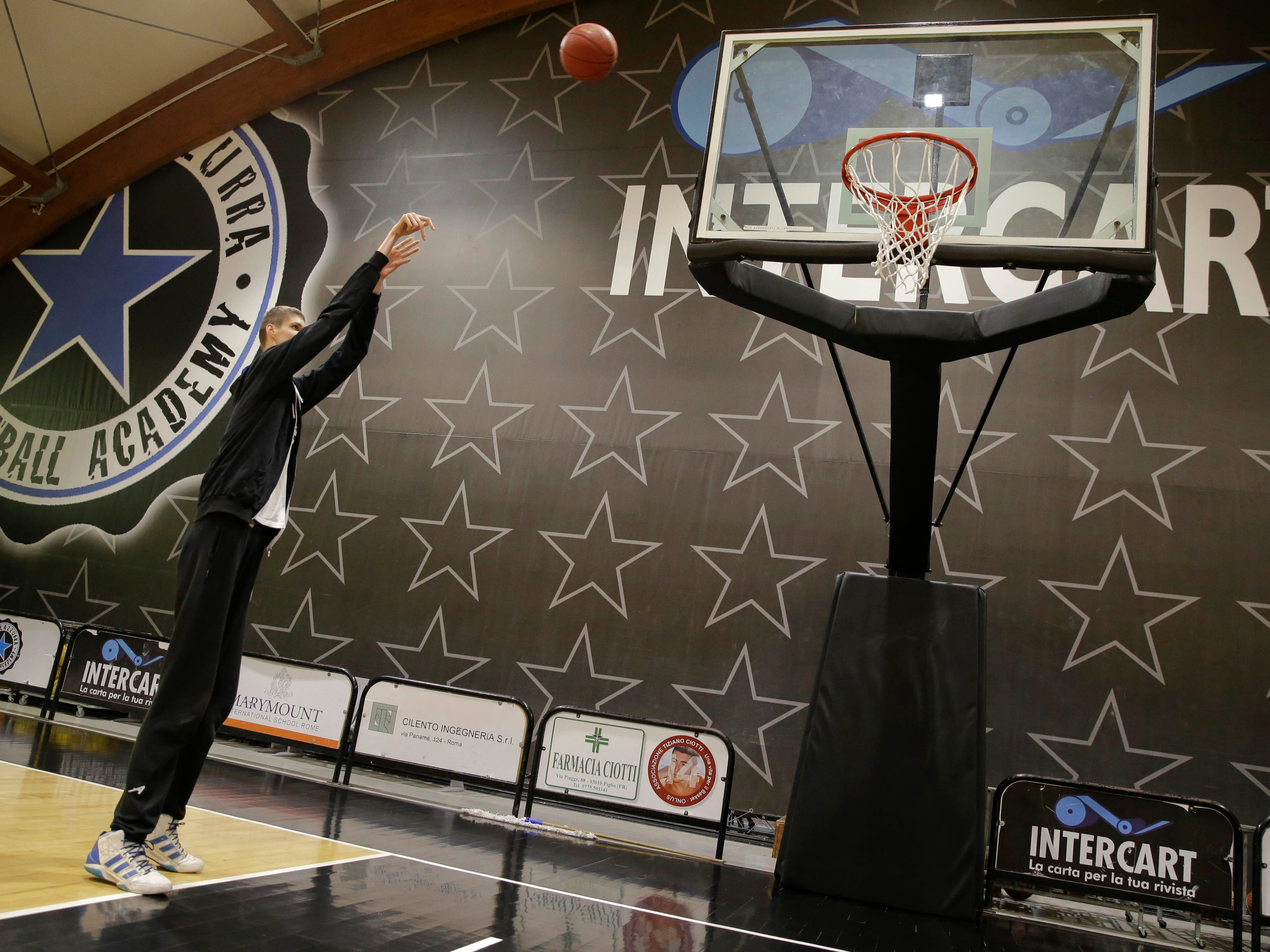 Spire Institute in Ohio will have the tallest player at HoopHall: 7-foot-7, 18-year-old Robert Bobroczkyi.
