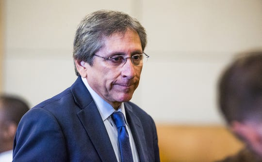 Prosecutor Juan Martinez appears in Maricopa County Superior Court in Phoenix, Thursday, August 23, 2018, in the case of Christopher Redondo.