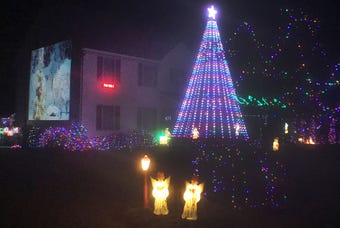 A synchronized Christmas display in the 200 block of Chestnut Drive, Shippensburg, lights up the night. Watch the time-lapse video.