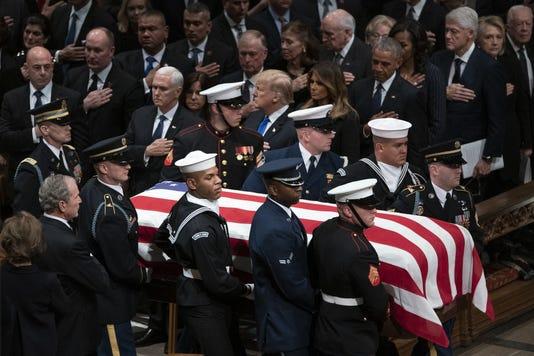 George W Bush Laura Bush Michelle Obama Barack Obama Jummy Carter Rosalynn Carter Bill Clinton Hillary Clinton Donald Trump Melania Trump
