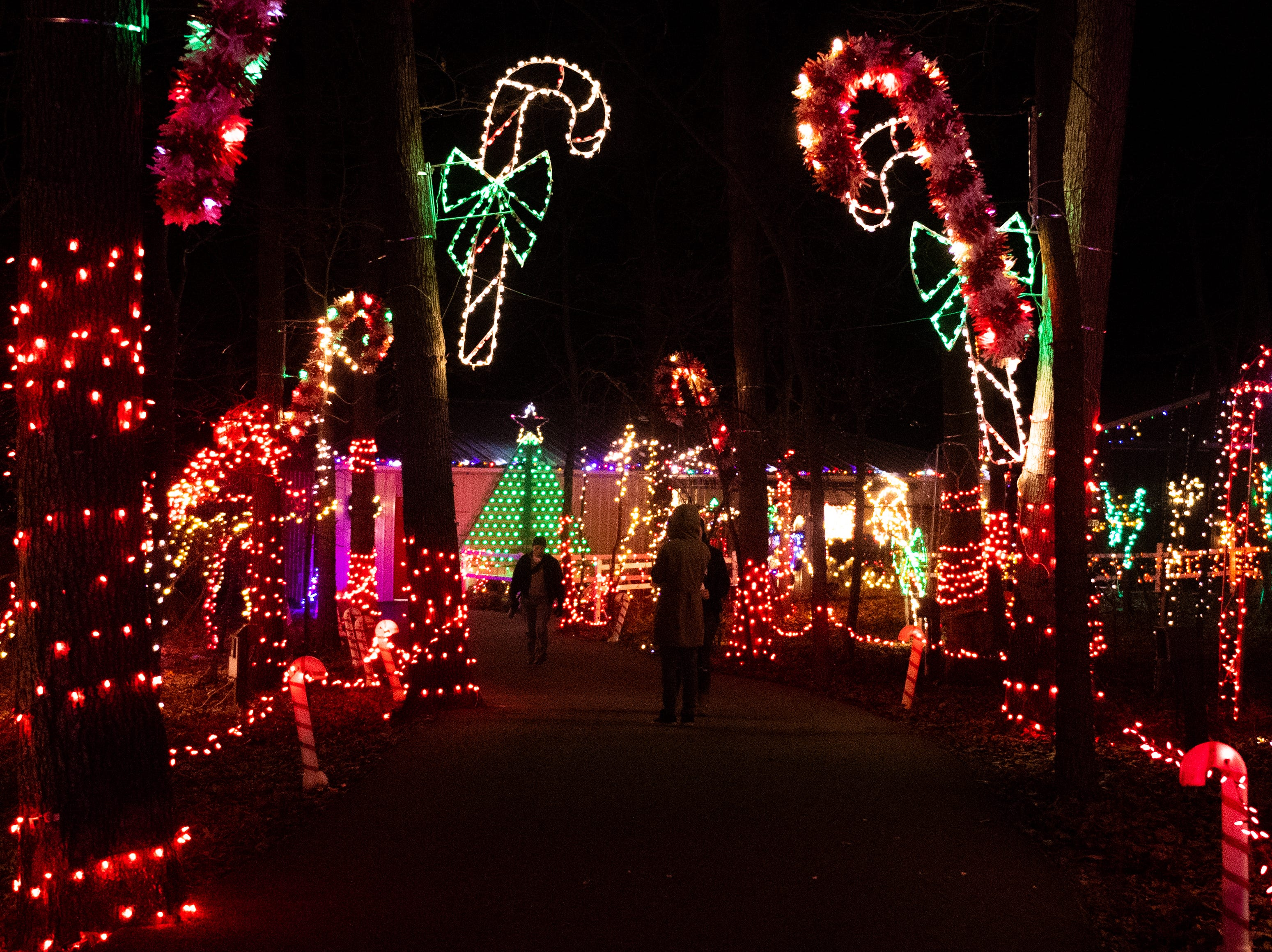 Thousands of lights shine bright at Christmas Magic 2018 at Rocky Ridge County Park in Springettsbury Township, Thursday, November 29, 2018.