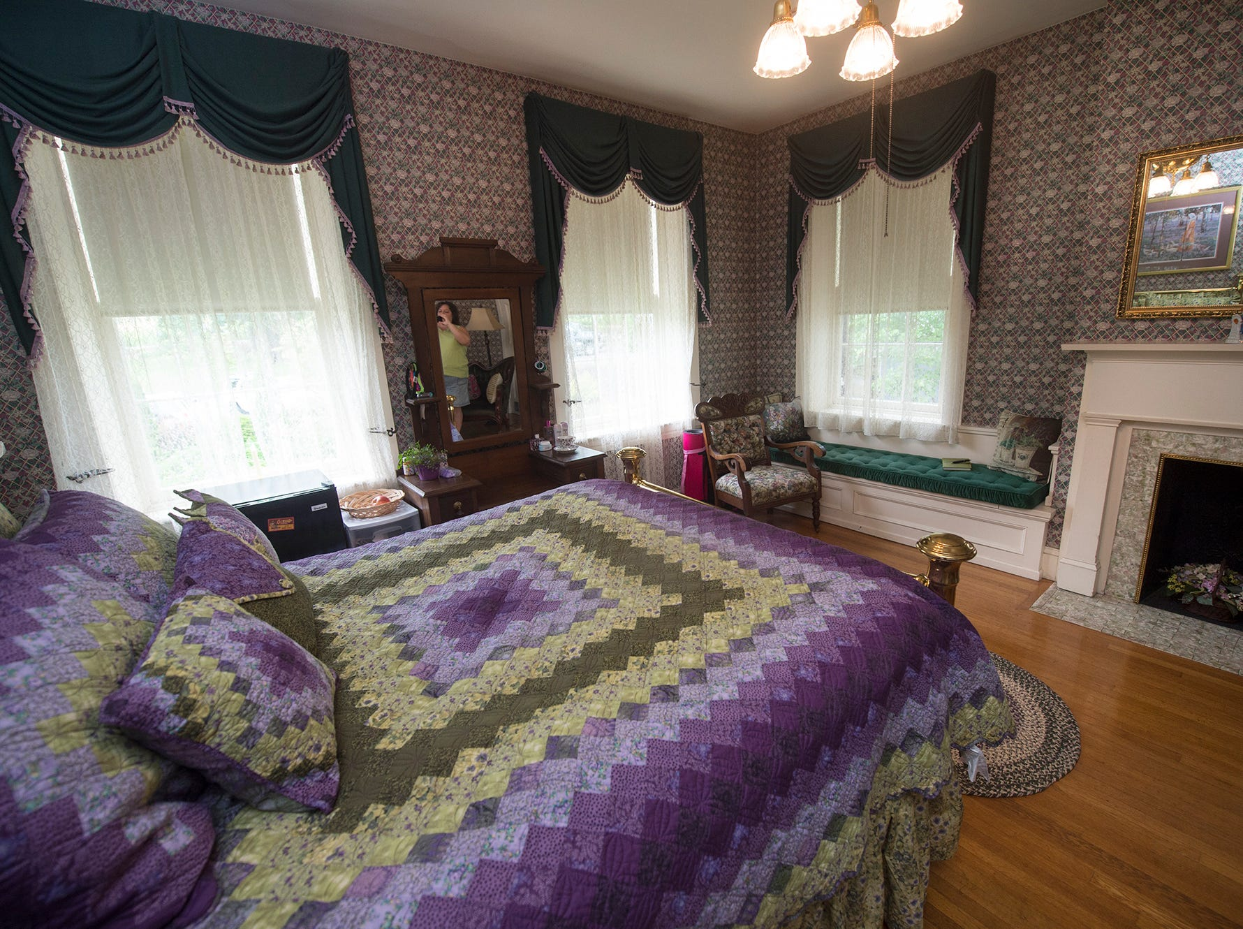 A second floor bedroom receives afternoon light May 17, 2015.